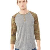 Eco-Jersey Three-Quarter Sleeve Raglan Henley